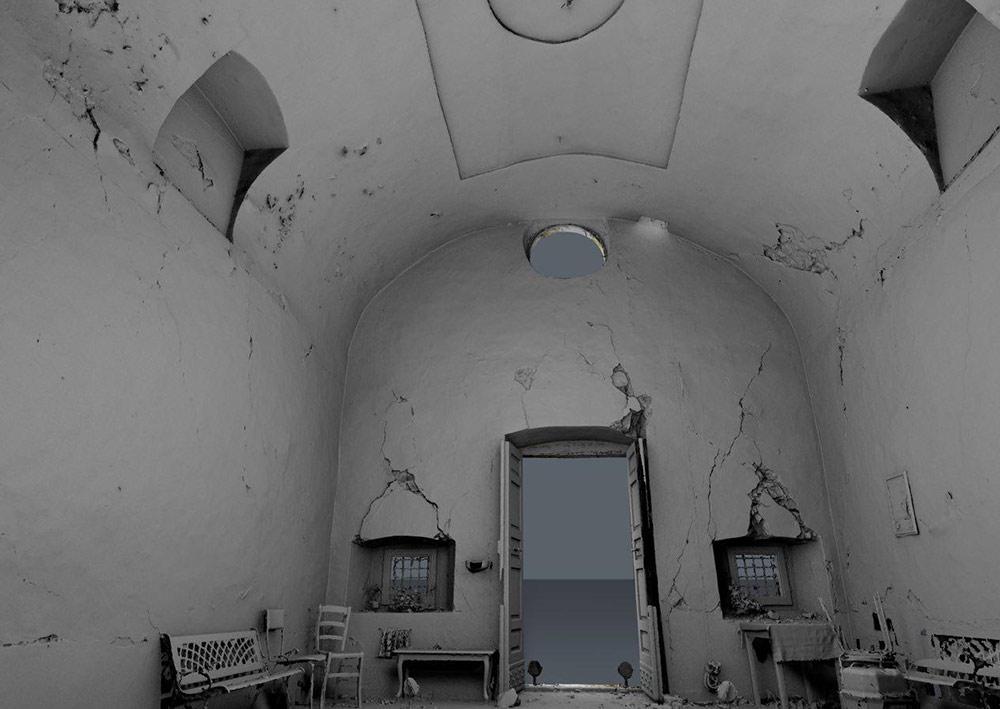 chiesa L'Aquila post terremoto: modellazione da nuvole di punti
